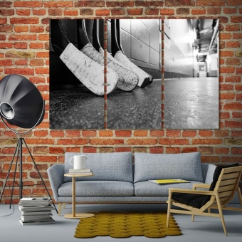 Hockey sticks large contemporary wall art, winter games art for home