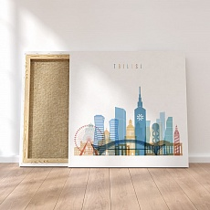 Tbilisi framed canvas wall art