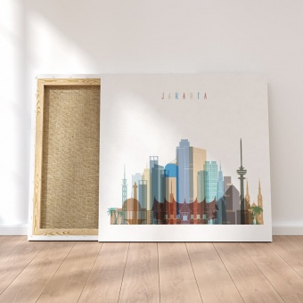 Jakarta canvas wall pictures, Indonesia art for the home