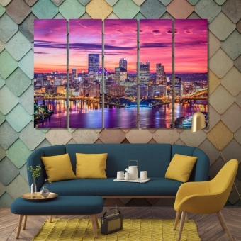 Pittsburgh cool wall paintings, Pennsylvania wall art decor ideas