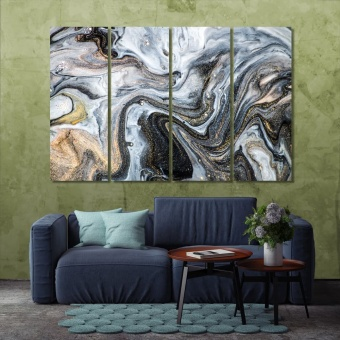 Grey abstract artwork for offices, paint spots canvas art prints