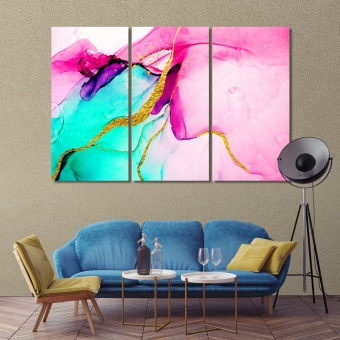 Pink marble abstract art printing on canvas, art for homes