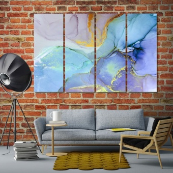 Colorful marble abstract painting decorative paintings print canvas