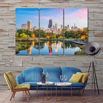 Chicago large wall artwork, Illinois modern art for home