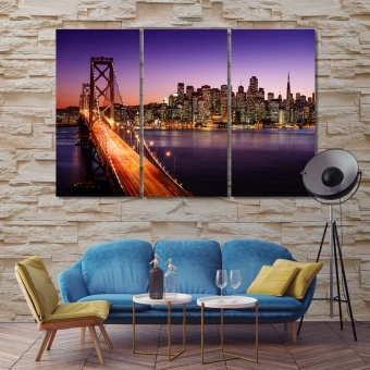 San Francisco Oakland Bay Bridge pictures for living room