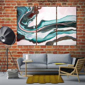 Paint flowing abstract living room wall decor ideas