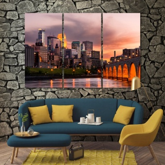 Minneapolis pictures for living room, ‎Minnesota print canvas art