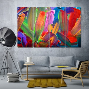 Brush strokes oil wall decorating ideas with pictures