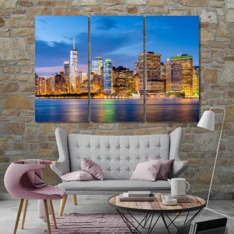 New York night city decorations for wall, United States cool wall art