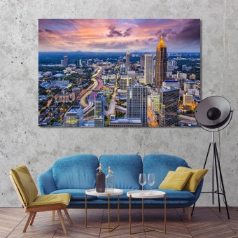 Atlanta living room wall decor ideas, Georgia canvas prints art