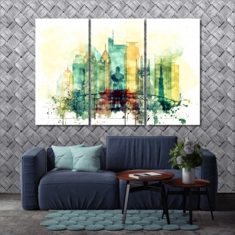 Manila modern wall decorations, Philippine watercolor drawing