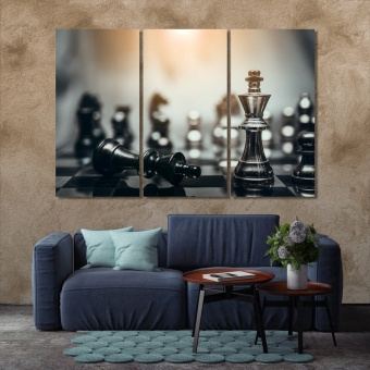 Board game of chess modern wall decor