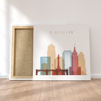 Cleveland canvas wall paintings, ‎Ohio art prints on canvas