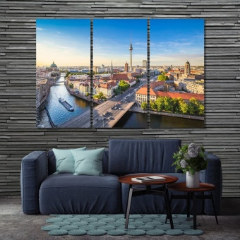 Berlin skyline in beautiful evening light , Germany canvas prints art