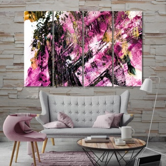 Luxury abstract art wall decorations ideas for bedrooms