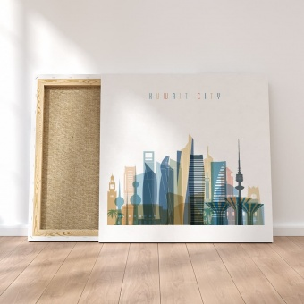 Kuwait City canvas wall decor, Kuwait decor ideas for large wall