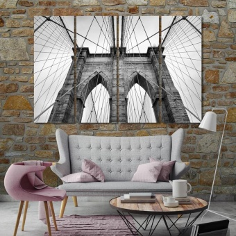 Brooklyn Bridge bedroom wall decorations, New York canvas prints art