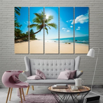 Shore wall art for bedroom, palm trees art for homes