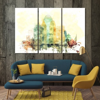 Cincinnati large wall art, Ohio art prints on canvas