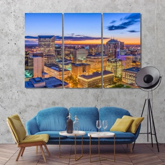 Cleveland modern wall art for living room, Ohio cool art for walls