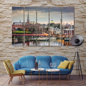 Annapolis large wall art for living room, ‎Maryland print canvas art