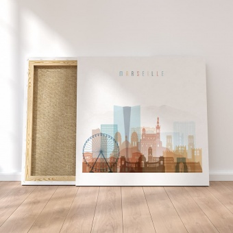 Marseille canvas wall pictures, France wall art for dining room