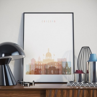 Concord wall art print, New Hampshire modern kitchen art