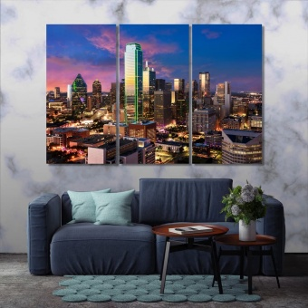 Dallas canvas wall decor, ‎Texas cool wall paintings