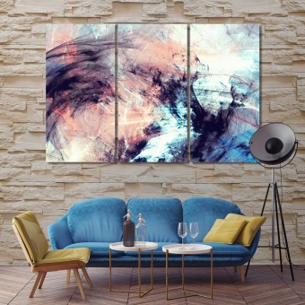 Futuristic bright painting modern wall art for living room