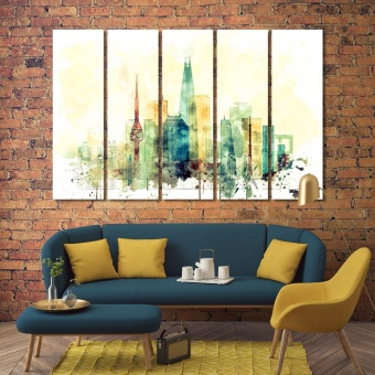 Seoul canvas prints wall art, South Korea wall decor for home
