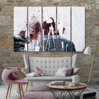 Paint splashes on canvas modern wall art for living room