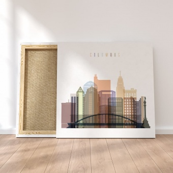 Columbus canvas wall art, Ohio wall decorations for bedroom