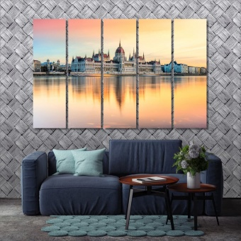 Budapest large wall decoration, Hungary home decor pictures