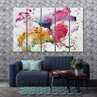 Abstract watercolor art paint wall art canvas prints