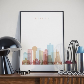 Knoxville art print, Tennessee wall decor and home accents