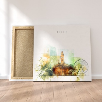Lille home wall art, France artistic prints on canvas