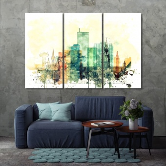Brussels home wall decor ideas, Belgium watercolor drawing