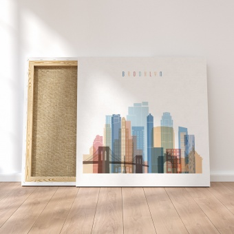 Brooklyn framed canvas wall art, ‎New York City decorations for wall