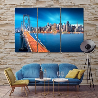 San Francisco Oakland Bay Bridge artistic prints on canvas