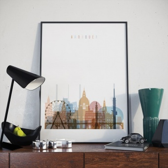 Hannover home decor print, Germany wall decors for bedroom