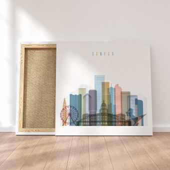 Denver canvas wall pictures, Colorado wall art prints
