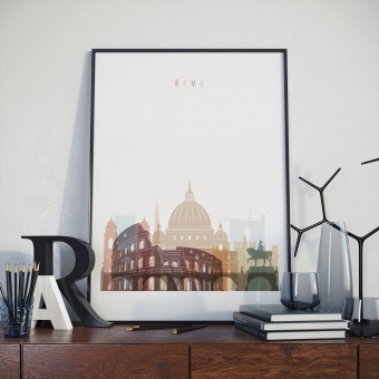 Rome wall art print, Italy living room wall pictures