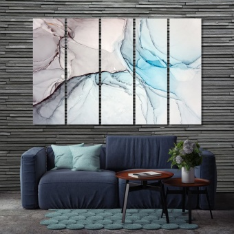 Abstract marble wall art canvas prints, fashion wall decor
