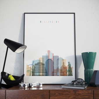 Wellington living room poster, New Zealand decoration wall
