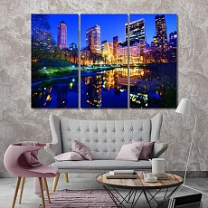 Central Park in New York City large contemporary wall art