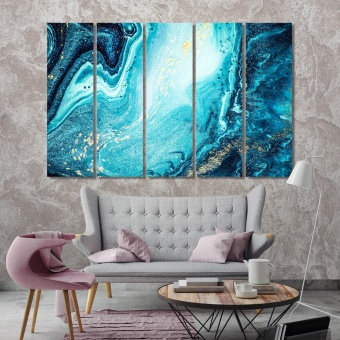 Marine abstract art wall decorating ideas pictures