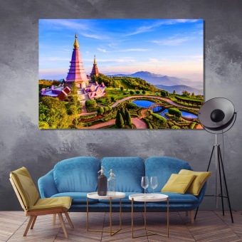 Chiang Mai home wall art, Thailand wall decor prints