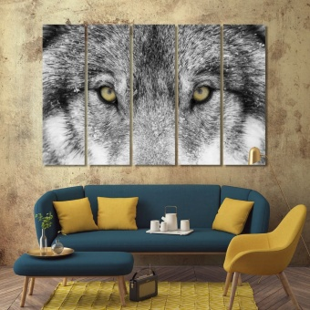 Wolf wall decorations for bedroom, wild animal wall canvas art