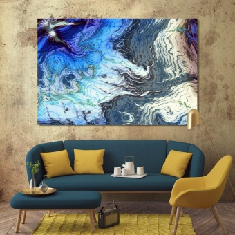 Aqua abstract wall decor paintings, cool abstract artwork