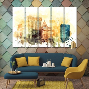 El Paso picture for wall, Texas large modern wall art